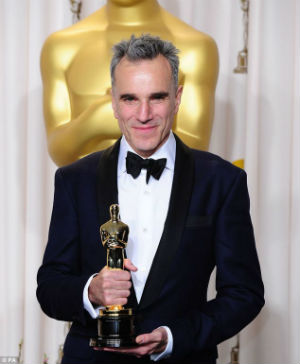 Daniel Day-Lewis has been nominated five times for Best Actor and has won the coveted gold statuette three times -- making him the only performer to have done so.
