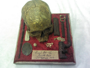 The skull was to be auctioned off with other memorabilia. The identity of the soldier remains unknown.