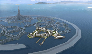 A seastead would be an autonomous, self-sufficient floating city.