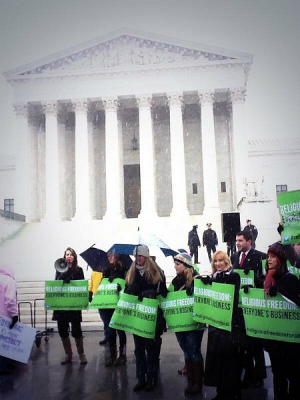 Pro-life demonstrators before the Supreme Court in March.