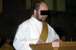 Ivo Poppe serving as a deacon in this photo. He is accused of murdering at least 40 people and keeping a diary about it.