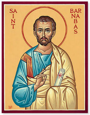 Being a good person, a nice person, is not enough for salvation. Saint Barnabas was a good man -- but he was also holy.