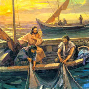 Father explains the rich symbolism found in today's Gospel regarding the boat of Simon Peter, which is the True Church headed by the Pope from which Our Lord teaches from.