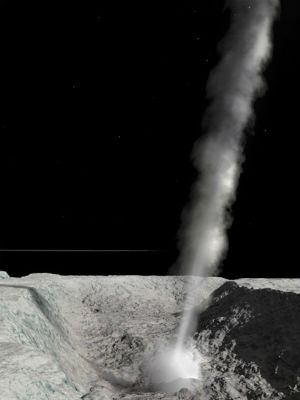 NASA's Cassini spacecraft first spotted the geysers as plumes in 2005.