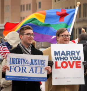 The Virginia case, Bostic v. Rainey, was brought by two same-sex couples. Fourteen thousand gay couples also were certified as a class for the suit.