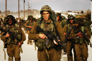 Israeli Defense Force soldiers killed several Hamas militants who attacked a military base north of Gaza.