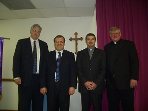 (Pictured: Left to Right - Dirk West, Matteo Callisi, Bishop Tony Palmer, and Deacon Darrell Wentworth) - Faith to Bishop Tony Palmer was a dynamic, lived experience and, as a result, his life built up the whole Body of Christ and tore down the walls some have built to separate us from each other! What a legacy! A true example of living Jesus' prayer in John 17! (Deacon Darrell Wentworth)