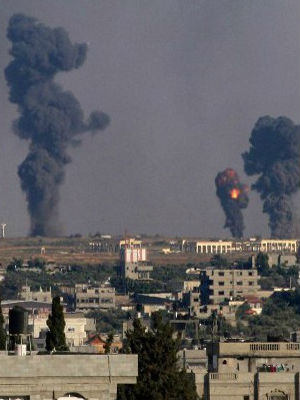 Palestinian sources have reported at least 11 people killed in Israeli strikes during the day.