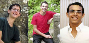 The three Israeli teenagers who were kidnapped and murdered by Hamas.