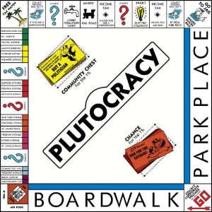 In the game of plutocracy you start by owing money to the bank and as it progresses, you owe more.