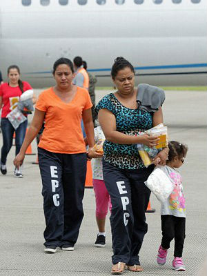 The U.S. has deported Honduran children as young as 1-1/2 years old this week. It was the first such flight since President Obama pledged to speed up the process of sending back illegal immigrant minors from Central America.