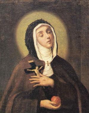 One of the greatest mystics of the Church, St. Veronica Guiliani.