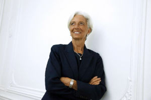 Christine Legarde, the chief of the International Monetary Fund, who is facing charges currently in France.