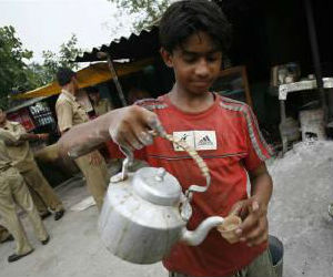 The report said child labor is prominent, at a substantial 75 percent in tea stalls, 'dhabas' or small shops as there is complete lack of regulation of working conditions in this segment.