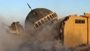 The Islamic State has been destroying shrines, mosques and sites of religious value to non-Sunni Muslims in every city it takes control of.