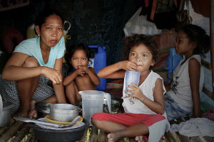 More than 1/3 of all Filipinos live below the poverty line.
