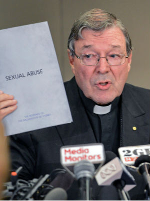 Speaking at the Royal Commission into Institutional Responses to Child Sexual Abuse, Cardinal Pell said it would not be appropriate for legal culpability to be 'foisted' on church leaders, he drew an analogy between the Catholic Church and a trucking company.