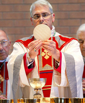 Lawyers representing Archbishop Paul Coakley had earlier demanded the return of a communion wafer obtained by the group.