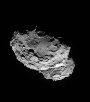 Exciting new images, taken from just 80 miles away shows boulders, craters and steep cliffs.