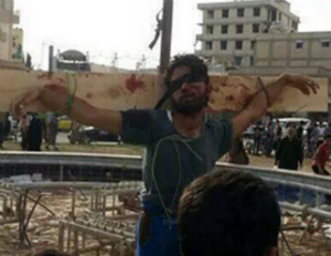 ISIS uses crucifixion as a public way of insulting those accused of disloyalty.