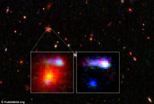 Images which reveal the galaxies in question. They may look like pixels, however by examining light in fine detail with sensitive instruments astronomers can reveal a lot of basic knowledge about the objects.