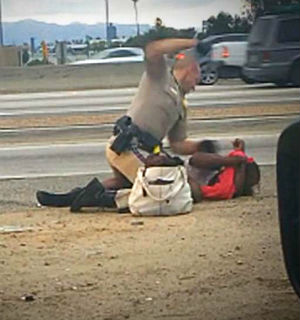 51-year-old Marlene Pinnock is suing the California Highway Patrol after she was brutally assaulted by a patrolman on July 1.