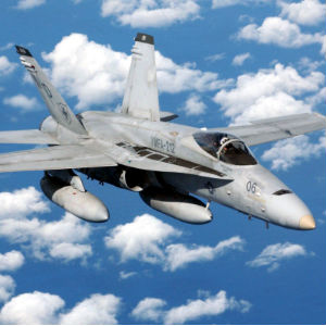Pentagon press secretary Rear Adm. John Kirby has confirmed that two F/A-18 jets dropped 500-pound bombs on a piece of artillery and the truck towing it.