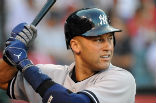 Image of New York Yankee Derek Jeter, who is retiring from the MLB after this season, his 20th.