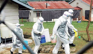 Health workers in the Democratic Republic of the Congo. The Congo is facing a secondary outbreak of Ebola, unrelated to the outbreak in West Africa.