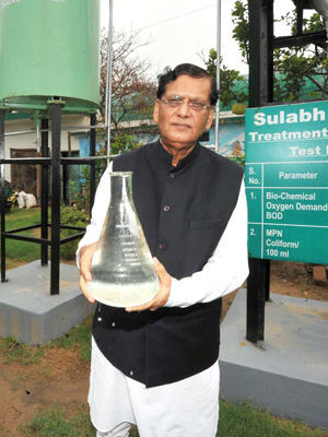The toilets were installed by Sulabh International, a New Delhi-based non-governmental organization focused on sanitation issues among India's poor. Bindeshwar Pathak, the group's founder unveiled the toilets in a ceremony before local officials and villagers.