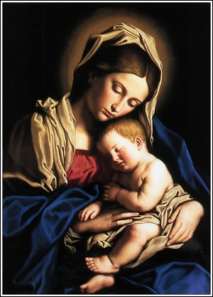 Mary, the Mother of the Lord, and the child Jesus