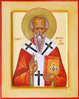 Image of Irenaeus of Lyon wrote these words - The glory of God gives life; those who see God receive life. For this reason, God-who cannot be grasped, comprehended, or seen-allows Himself to be seen, comprehended, and grasped by men, that He may give life to those who see and receive Him. It is impossible to live without life, and the actualization of life comes from participation in God, while participation in God is to see God and enjoy His goodness.