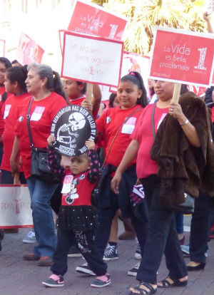 Pro-lifers marched in One Life LA on January 17, 2015.