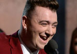 Image of British newcomer Sam Smith, all of 22 years of age, knocked it out of the ballpark at this year's Grammy awards. Wining both Song and Record of the Year for his