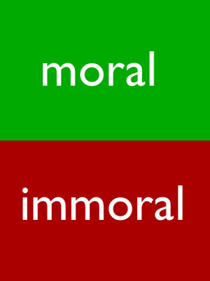 moral vs survival Moral, by these definitions, means those things which are considered to be, at any given time, survival characteristics a survival action is a moral action and those things are considered immoral which are considered contrasurvival.