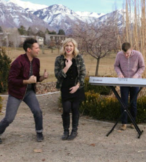 David Osmond, Ashley Hess and Eric Thayne in their love song medley YouTube video.