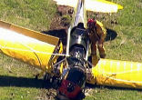 Image of A man who was playing on the golf course at the time, Jeff Kuprycz, said Harrison Ford's plane