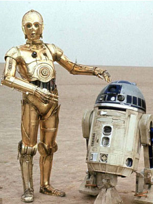 R2d2 And C3po Desert Luke Skywalker&...