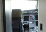 Image of This Airbus cockpit is similar to the one in the Germanwings aircraft. Since September 11 attacks, the armoring of doors has been strengthened and the three-point locking are now mandatory.