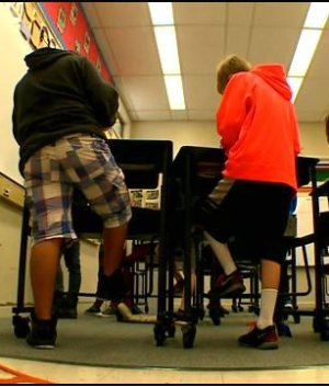 Strange new desks promise to help students focus