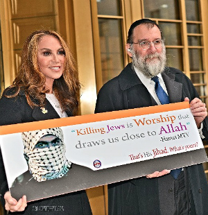 Controversial 'Killing Jews is Worship' posters soon to be seen plastered around New York City