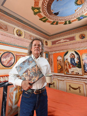 Grandfather transforms three-bedroom home into stunning replica of Sistine Chapel