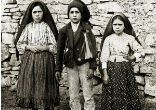 Image of The Virgin Mary appeared to three shepherd children in Fatima, Portugal, in 1917, and confided in them three secrets. Carmelite Sister Lucia dos Santos, one of the visionaries, wrote them down years later.