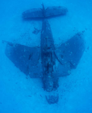 AMAZING PHOTOS: Underwater graveyard of hundreds of World War II planes captured by photographer