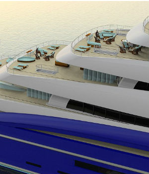 Size of two football fields: Double Century is the world's largest 'giga-yacht'