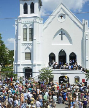 Charleston Church reopens for first time after massacre shooting