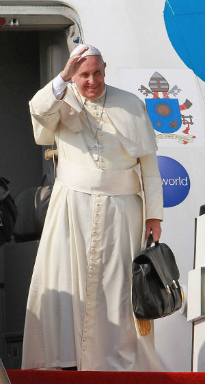 Itinerary of the Pope's trip to Cuba and the U.S.A. and his visit to the United Nations