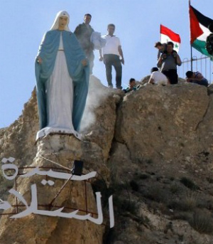 Amazing Virgin Mary statue stands tall once again in Syria