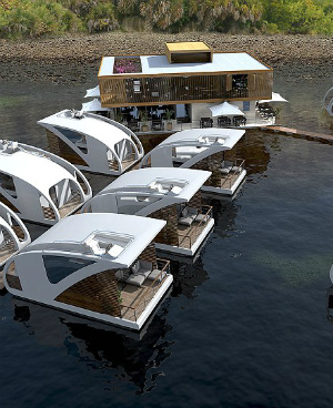 New floating hotel: Serene, amazing, surrounded by nature