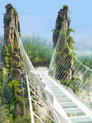 Chinese scenic national park to feature world's largest glass-bottom bridge